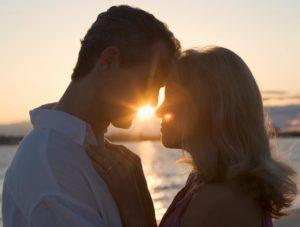 Romance Couple close sunset