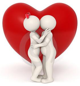 cute 3d cartoon kiss