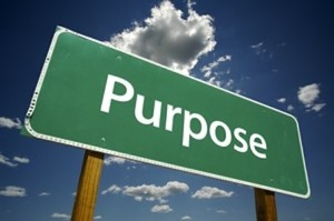 purpose sign